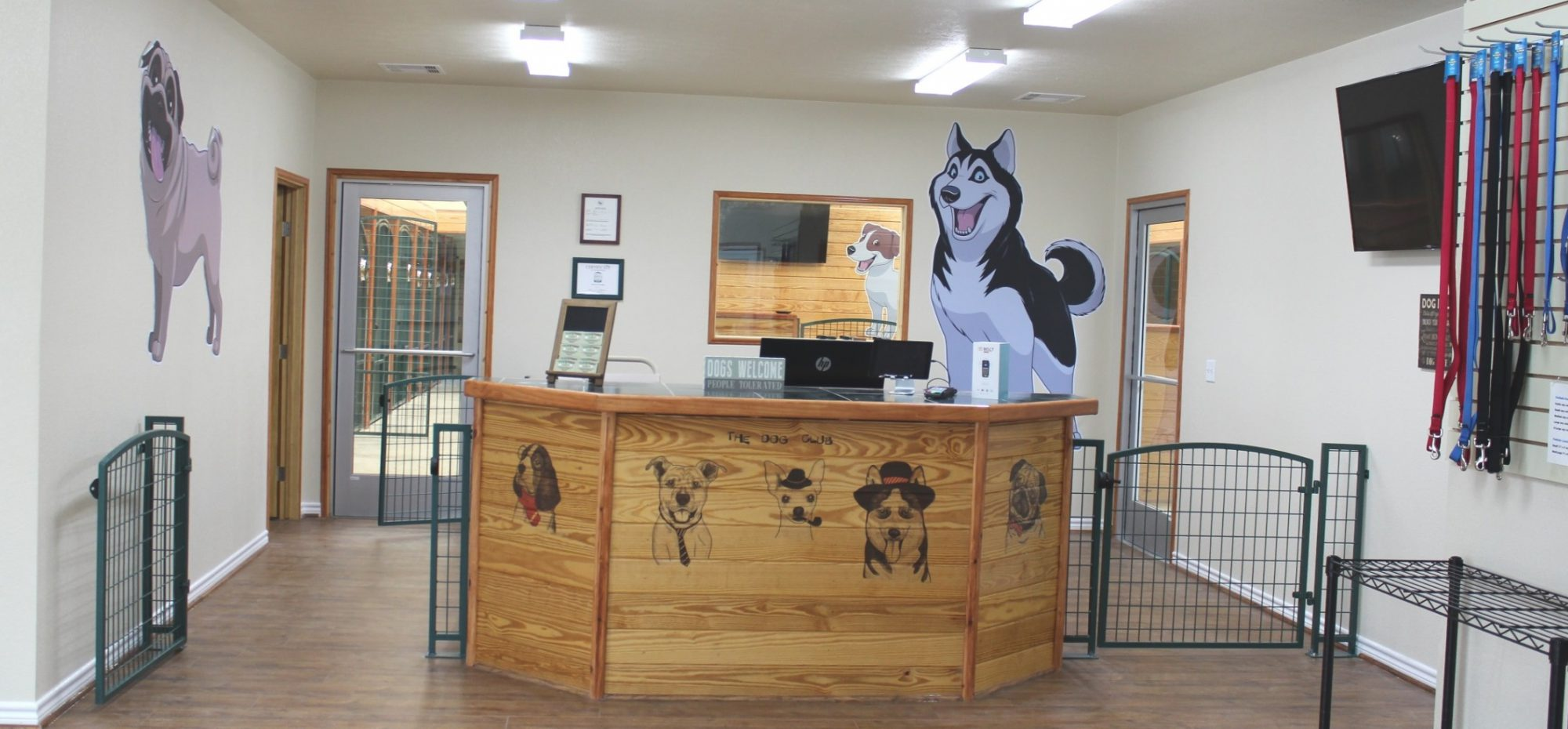 Pawtown Pet Boarding Front Counter